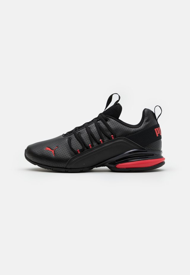 AXELION - Sports shoes - black/high risk red