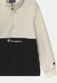 Champion - CHAMPION X ZALANDO HALF ZIP UNISEX - Fleecepullover - off-white/black - 2