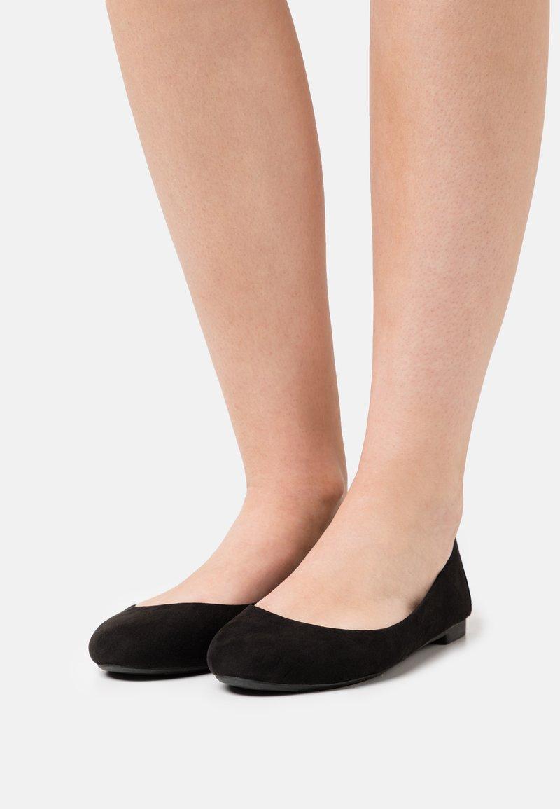 Even&Odd Wide Fit - Ballerina's - black