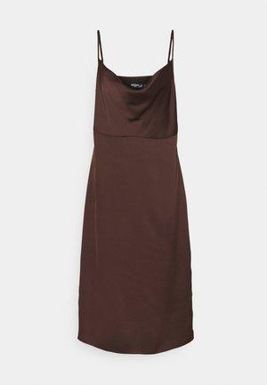 CAMI COWL SLIP MIDI DRESS - Cocktail dress / Party dress - chocolate