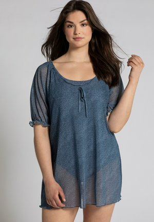PLUS SIZE DENIM LOOK STRETCH  - Print T-shirt - blue denim