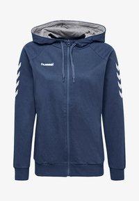Hummel - HMLGO - Zip-up hoodie - true blue - 0
