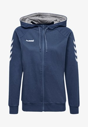 HMLGO - Zip-up hoodie - true blue