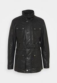 GARRET - Krátký kabát - black