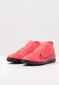 Nike Performance - MERCURIAL 7 CLUB TF - Korki Turfy - laser crimson/black - 2