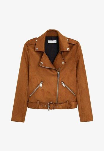 SEUL-I - Faux leather jacket - braun