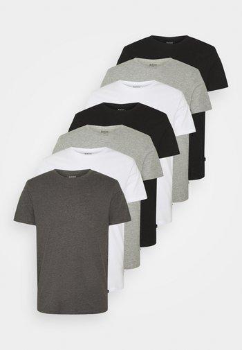 7 PACK - T-shirt - bas - black