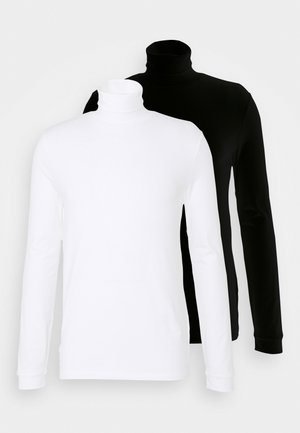 ROLL NECK 2 PACK - Long sleeved top - black/white