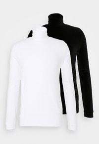 Topman - ROLL NECK 2 PACK - Long sleeved top - black/white - 4