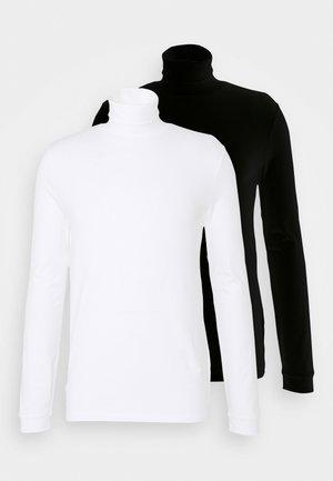ROLL NECK 2 PACK - Longsleeve - black/white