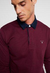 GANT - THE ORIGINAL HEAVY RUGGER - Polo shirt - port red - 4