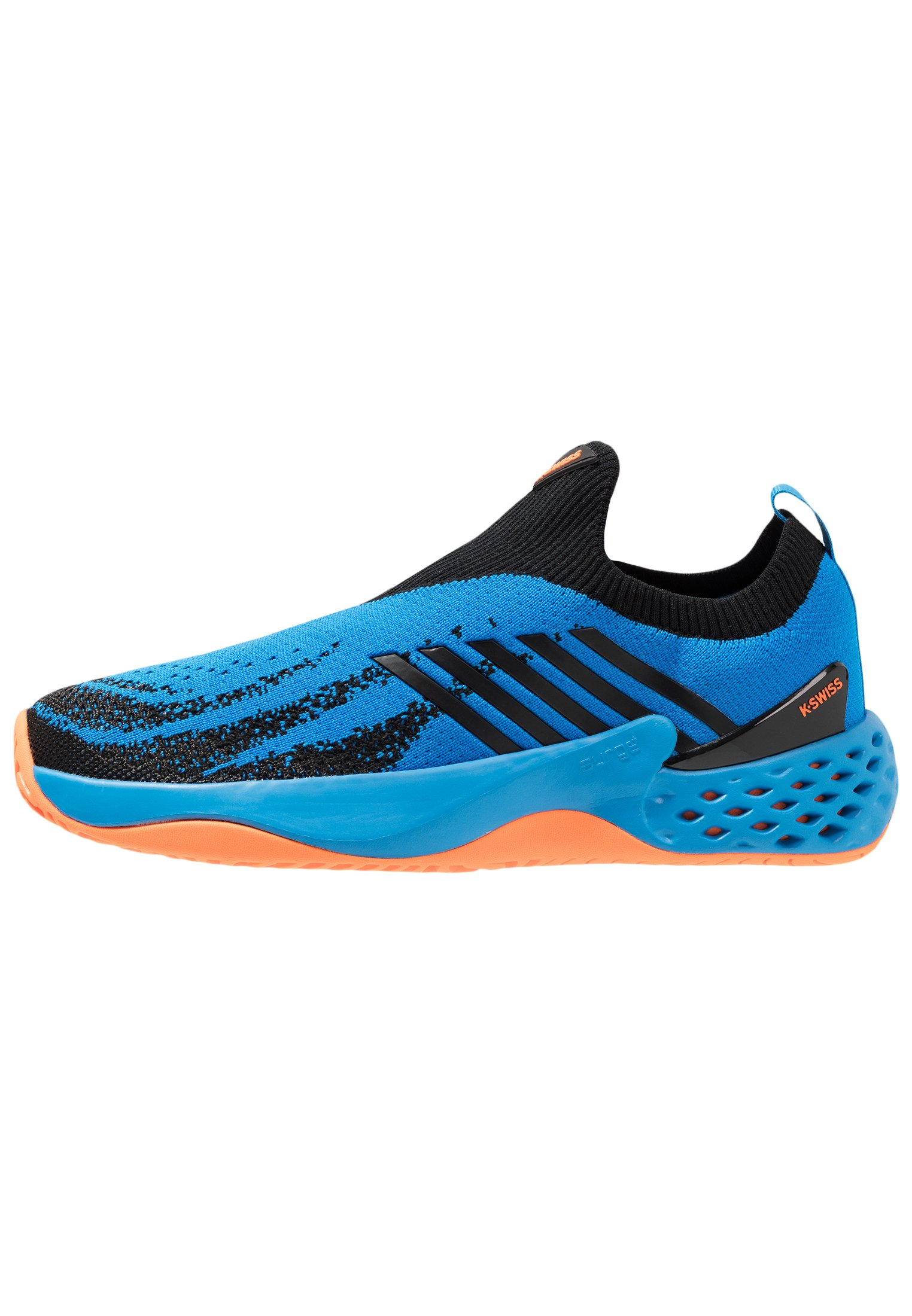 AERO KNIT All court tennisskor algiers blueblacksoft neon orange