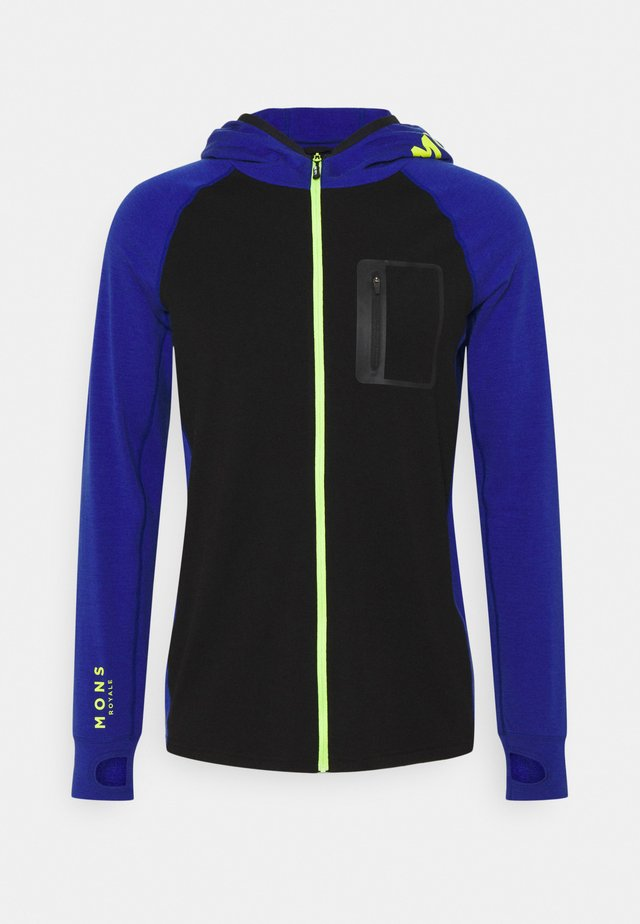 TRAVERSE FULL ZIP HOOD - Verryttelytakki - ultra blue/black