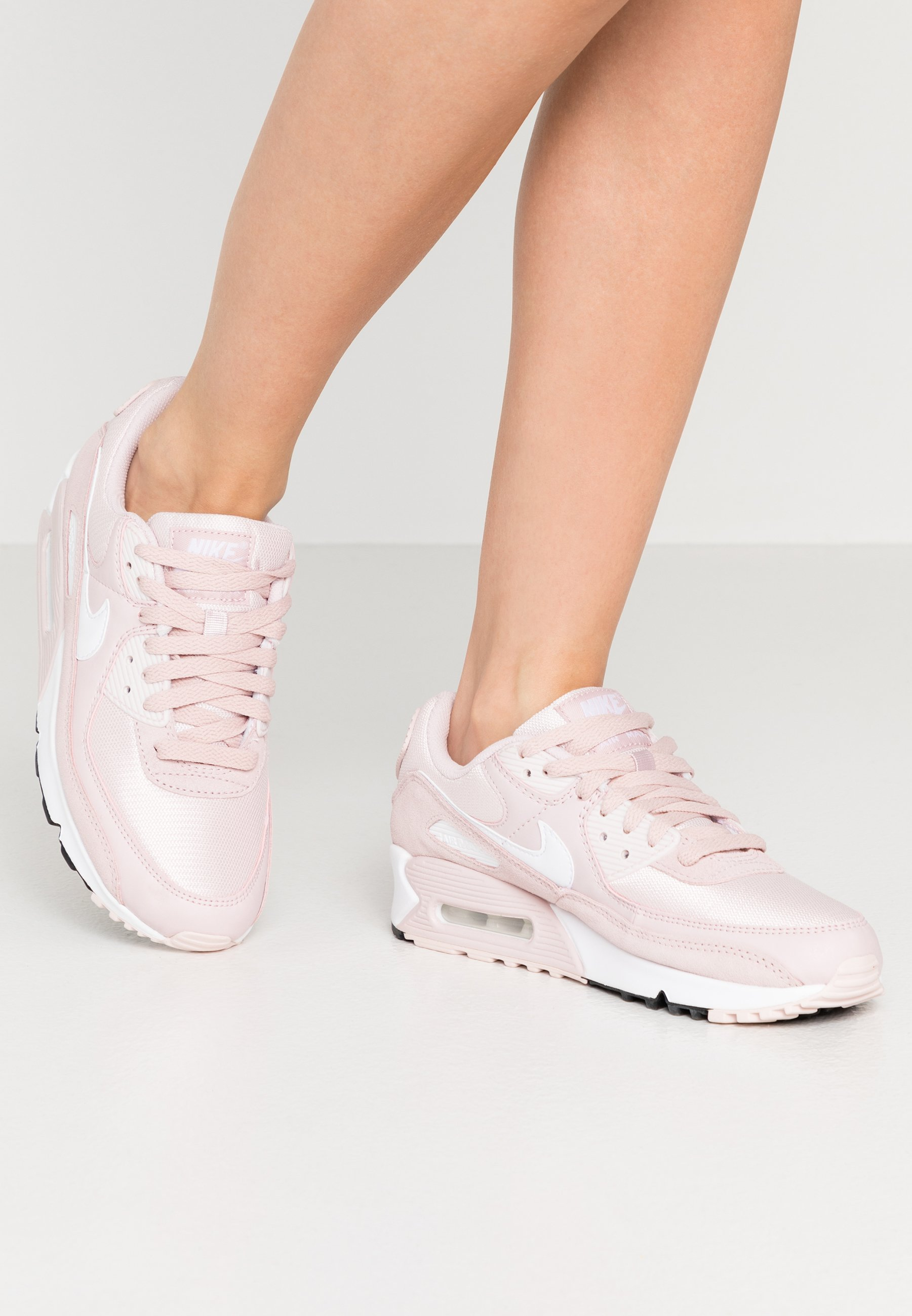 mudo Masculinidad pómulo  Nike Sportswear AIR MAX 90 - Trainers - barely rose/white/black/light pink  - Zalando.co.uk