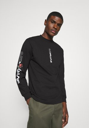 THREAT TEE - Long sleeved top - black
