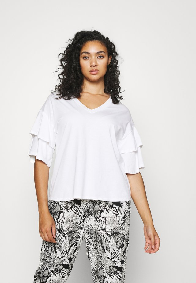 DROP SHOULDER - T-shirt print - white