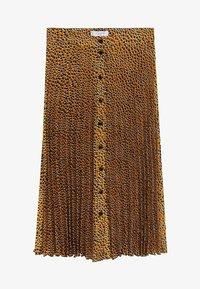 Violeta by Mango - PANTERA - A-line skirt - karamell - 4