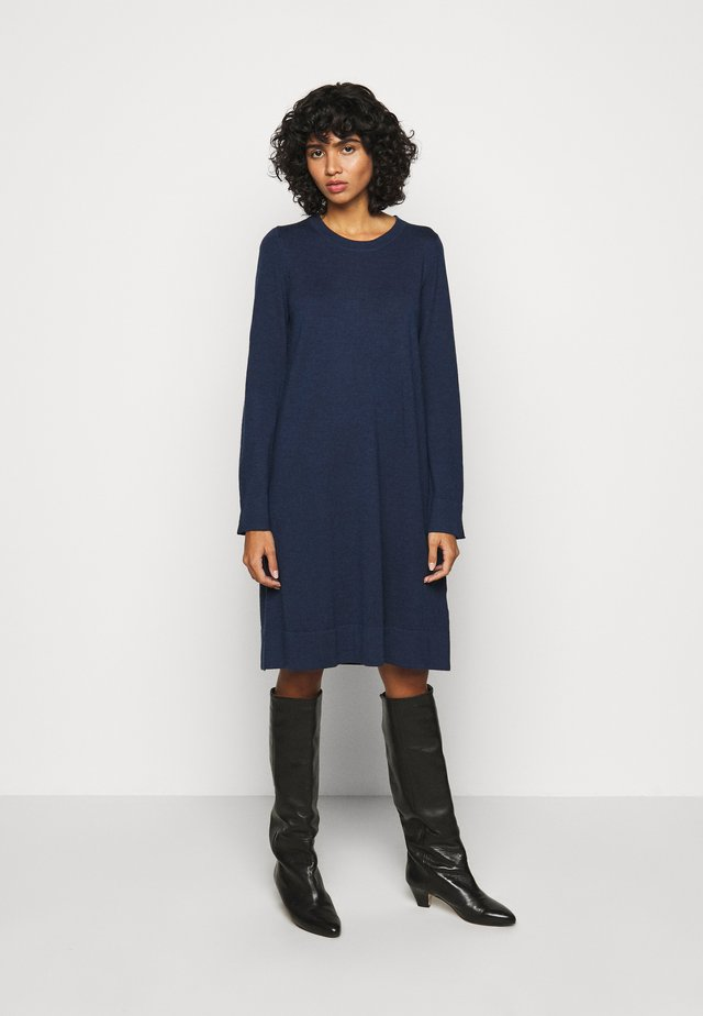CREW NECK DRESS - Robe pull - dark blue