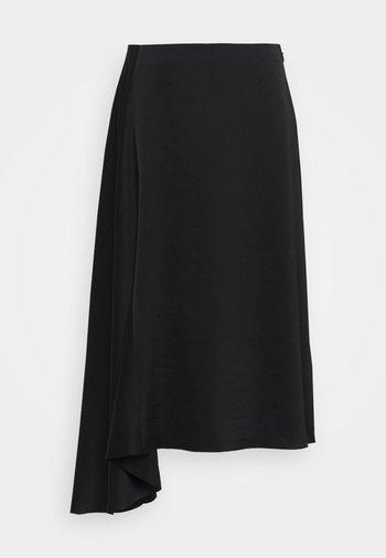 DRAPEY SKIRT - Áčková sukně - black