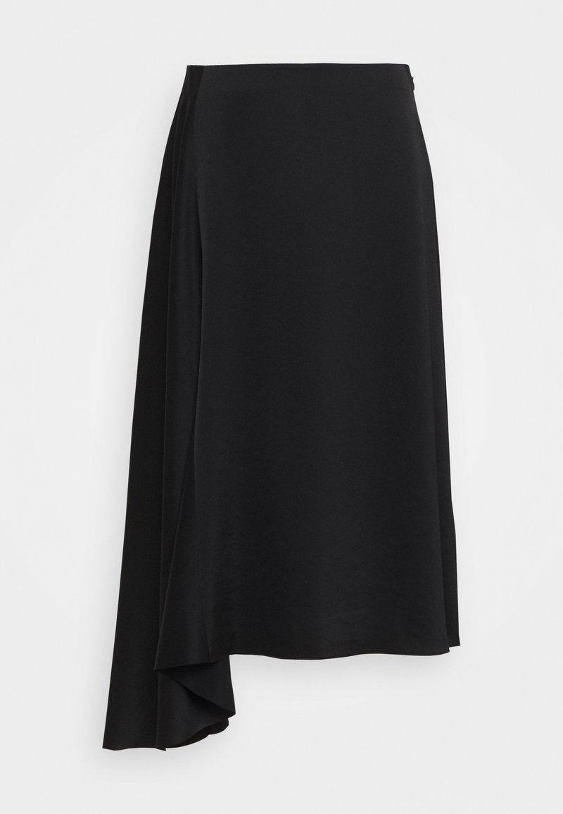 Filippa K - DRAPEY SKIRT - Áčková sukně - black