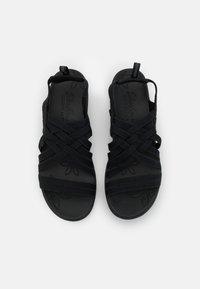 Skechers - PIER LITE - Platform sandals - black gore - 5