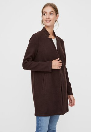 Short coat - chocolate plum