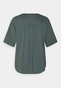 MY TRUE ME TOM TAILOR - BLOUSE WITH OPEN COLLAR - Basic T-shirt - washed jasper green - 6