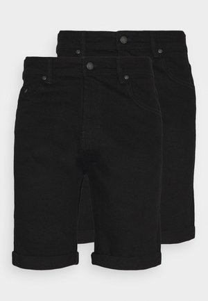 MR ORANGE 2 PACK - Jeansshorts - black