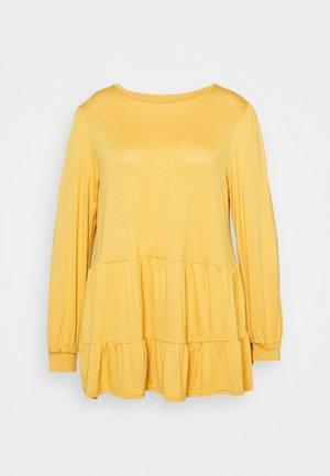 TIER PEPLUM - Camiseta de manga larga - dark yellow