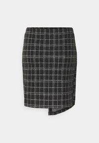 ONLY - ONLALBA SHORT SKIRT - Wrap skirt - dark grey melange/white - 1