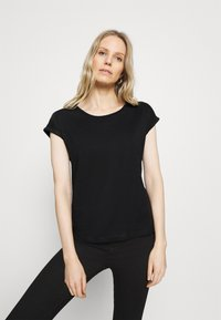 Anna Field - 3 PACK - Basic T-shirt - black/white/dark red - 3