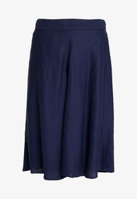 Esprit Collection - SOLID - A-line skirt - navy - 3