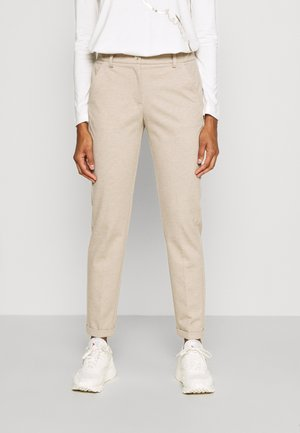 MELINA CITY - Trousers - cream melange