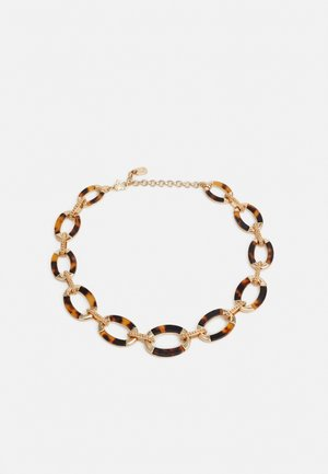 INLAY COLLAR - Necklace - gold-coloured/tort