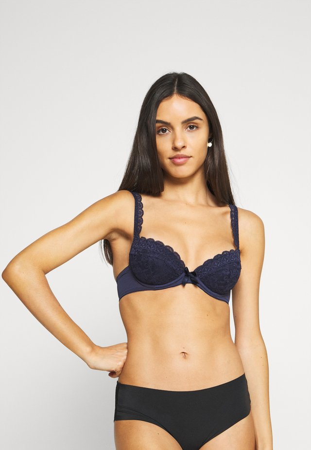 REBEL PADDED PLUNGE BRA - Push-up BH - navy