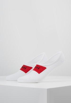 FRONT LOGO 2 PACK - Trainer socks - white