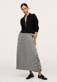 Mango - Áčková sukně - black - 1
