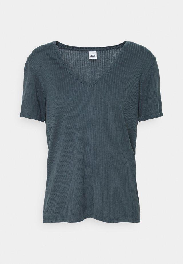 JANICE - Basic T-shirt - dark ink