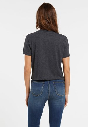 POCKET STONE TEE - Basic T-shirt - heather_black