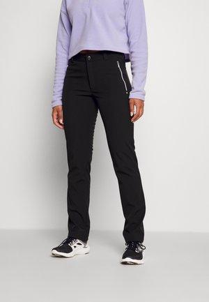 EROTTAJA - Pantalones montañeros largos - black