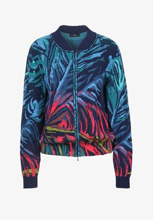 TROPICAL MOTIF - Cardigan - marine