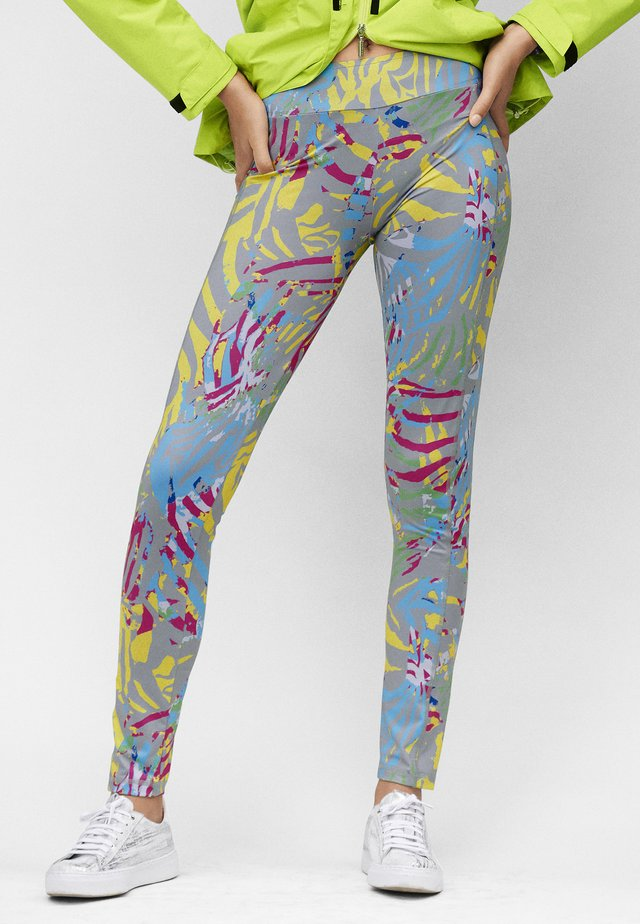 Leggings - Trousers - silbergrau multicolor