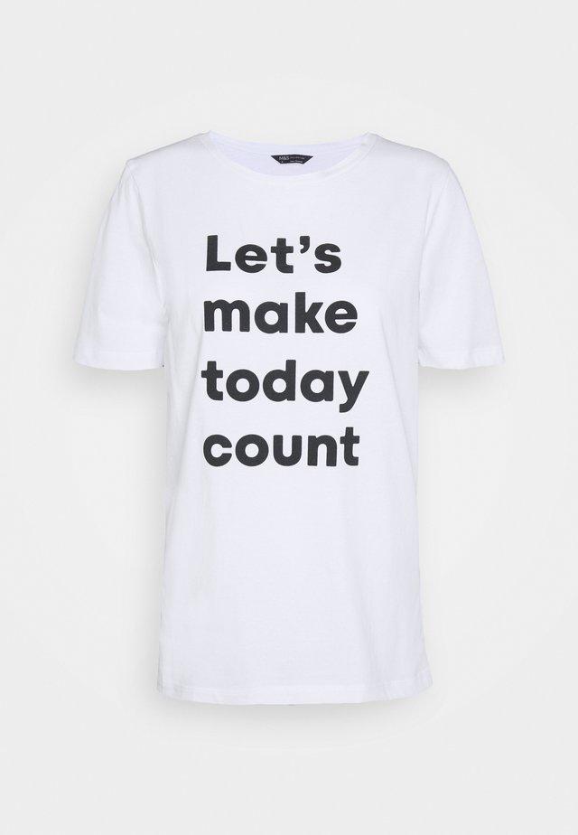 PLACEME - T-shirt print - white