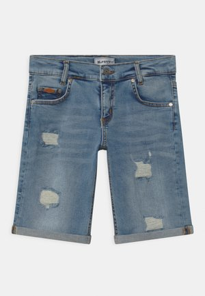 BOYS ULTRASTRETCH  - Denim shorts - light-blue denim