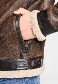 Goosecraft - LAMMY - Kožená bunda - brown - 4