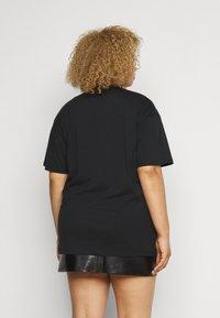 Simply Be - SLOGAN - Print T-shirt - black - 2