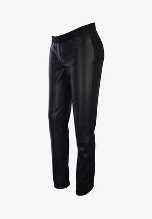 HOSE VEGGIE LEDER CURVE - Kalhoty - schwarz
