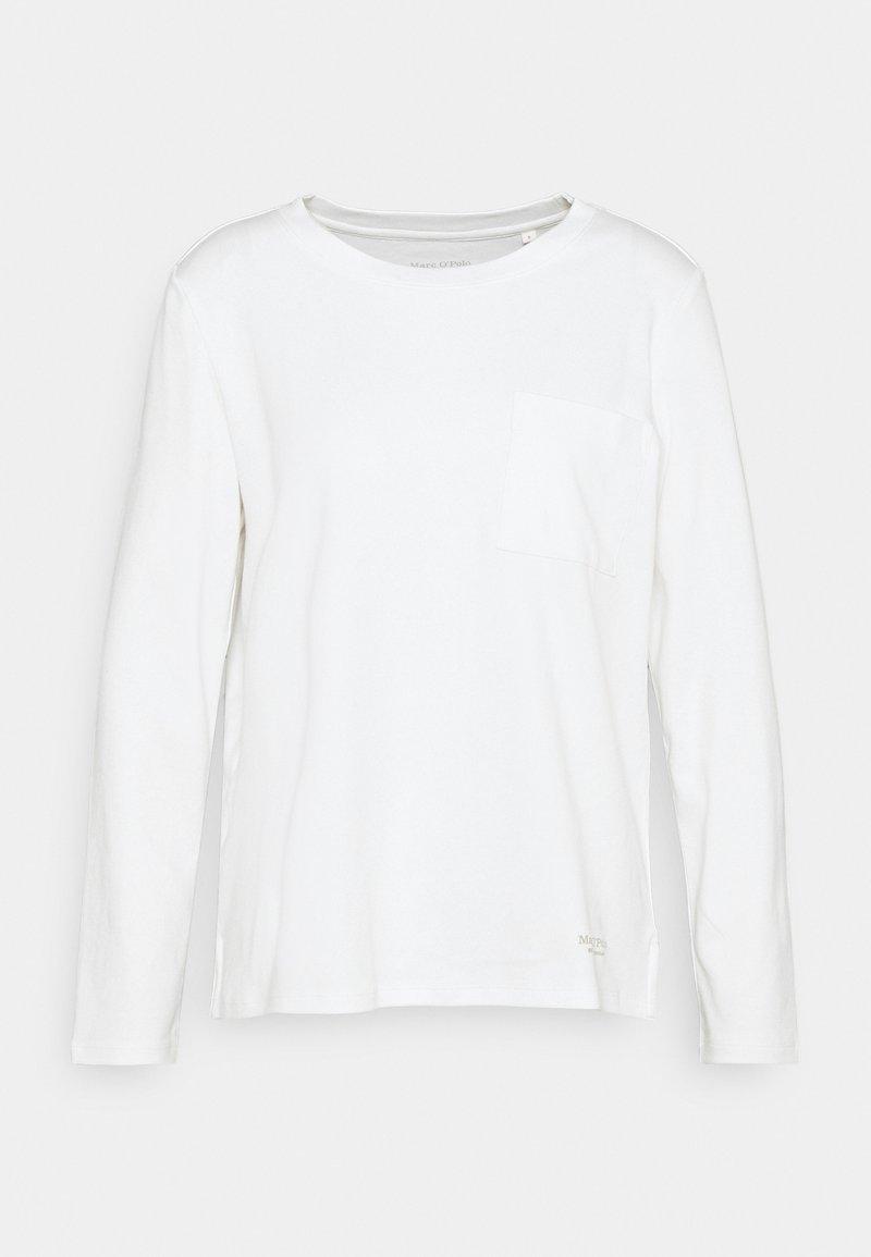 Marc O'Polo - LONG SLEEVE ROUND NECK - Topper langermet - white