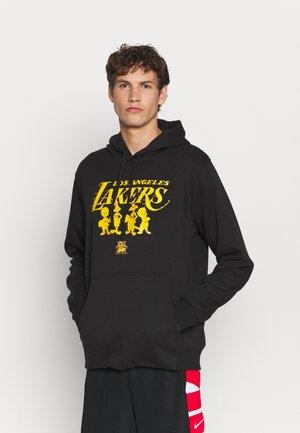 NBA LOS ANGELES LAKERS SPACE JAM 2 MONOTONE HOOD - Club wear - black