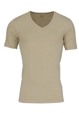 Basic T-shirt - creme - beige